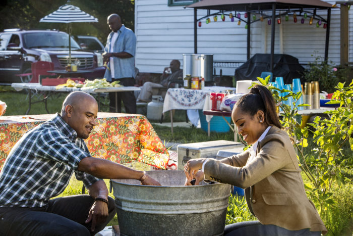 Charley (played by Dawn-Lyen Gardner) and Remy (played by Dondre Whitfield) on Queen Sugar. Courtesy of OWN.