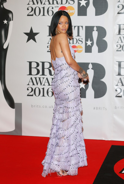 Rihanna attends the BRIT Awards 2016 at The O2 Arena on February 24, 2016 in London, England. (Luca Teuchmann/Getty Images Europe)